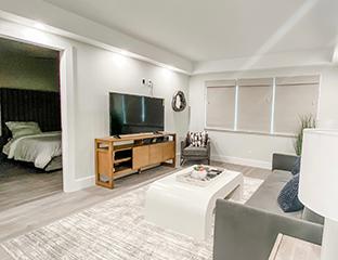 Living room at vacation rental boca raton