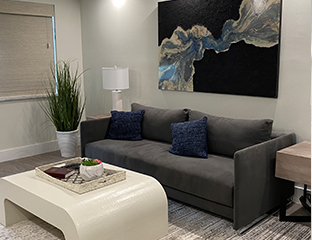 Living room at vacation rental in boca raton