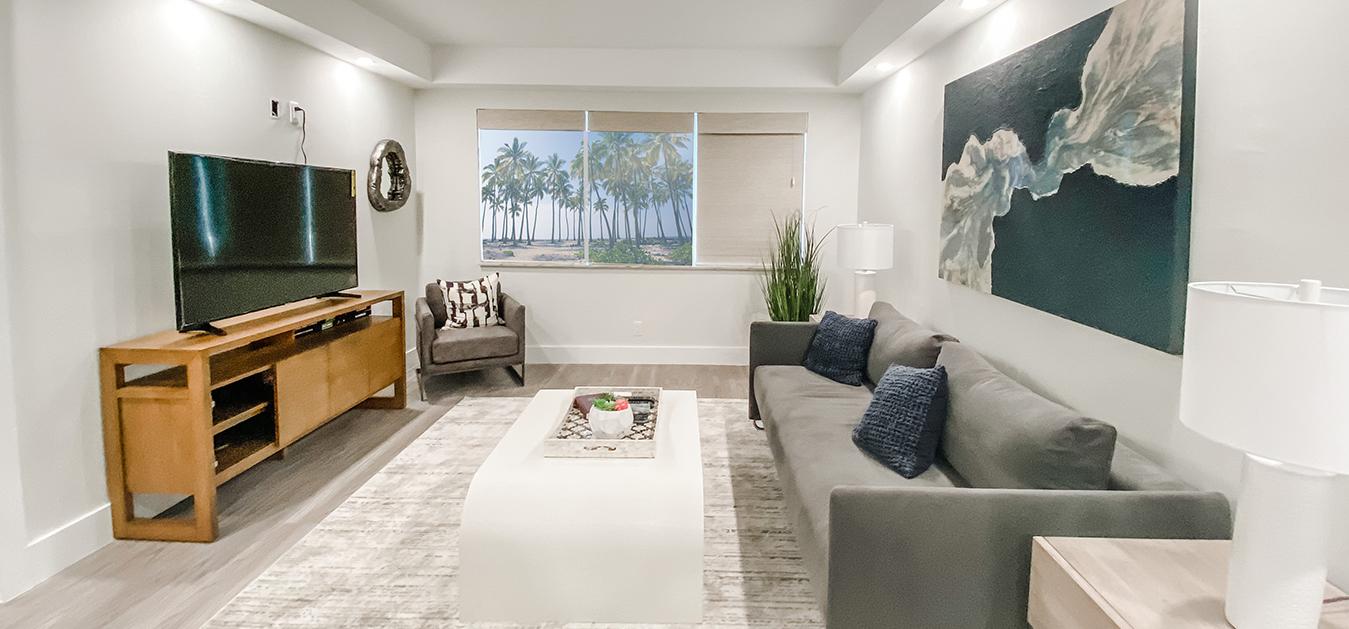 Living Room Render in Boca Raton Vacation Rental