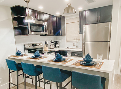 Kitchen in 365 Ocean vacation rental